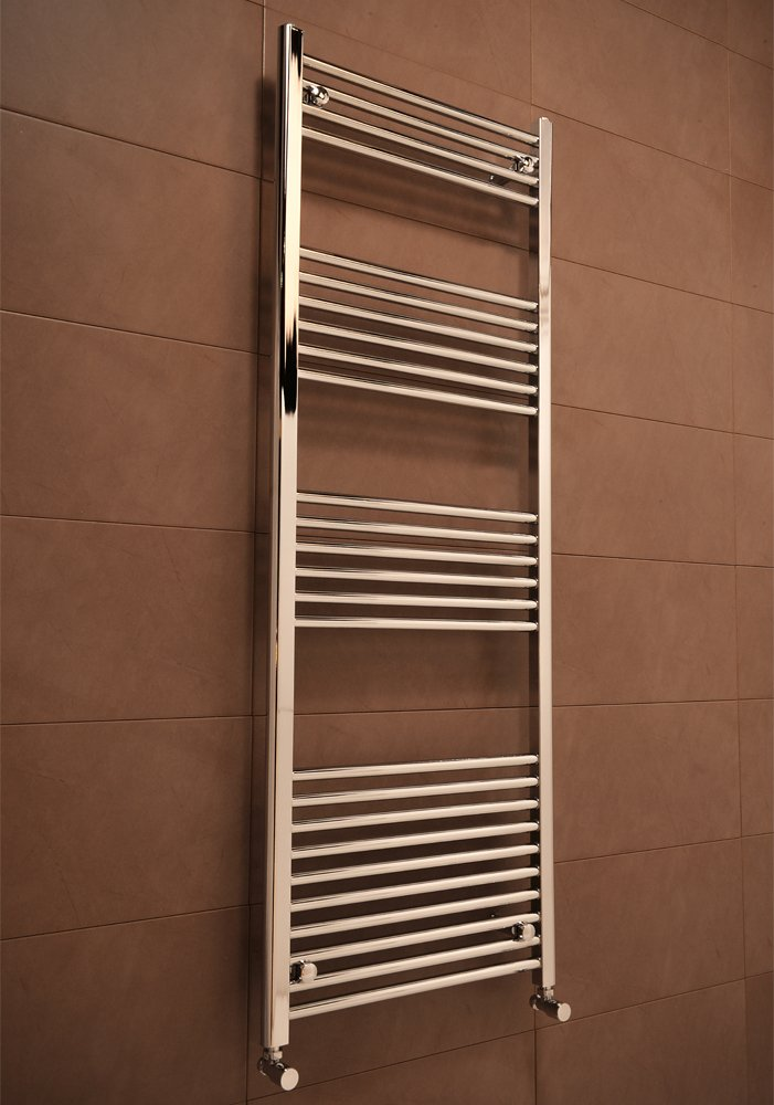 Chrome Straight Heated Bathroom Towel Rail Rad Radiator