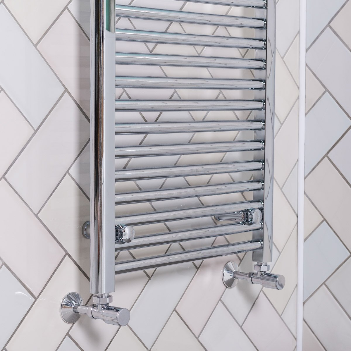 Ladder Heated Towel Rails: Bathroom Heated Towel Rail Radiator Chrome Straight Ladder