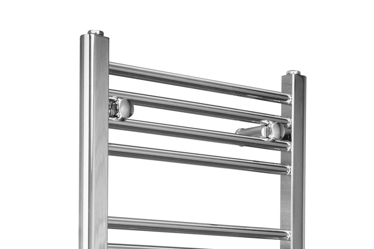 Straight Heated Towel Rail Radiator 700 X 450 - Chrome