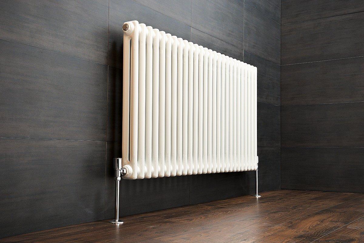 New Traditional White Heated Bathroom Towel Rail Radiators