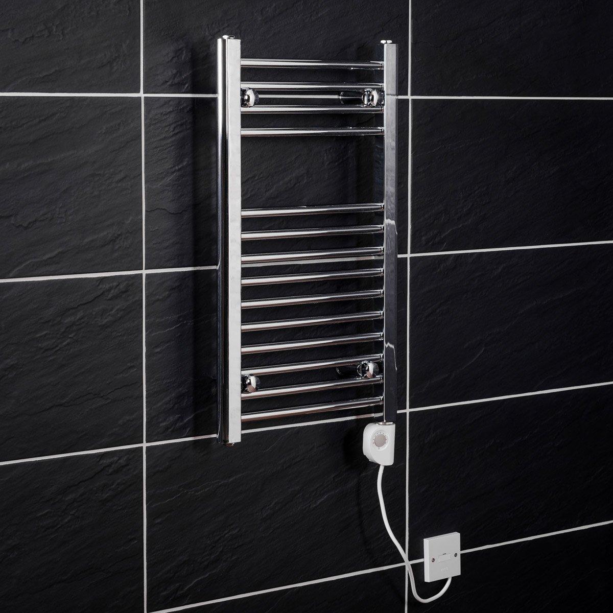 Electric Bathroom Towel Heaters: Bathroom Chrome Electric Ladder Heated Towel Rail Warmer