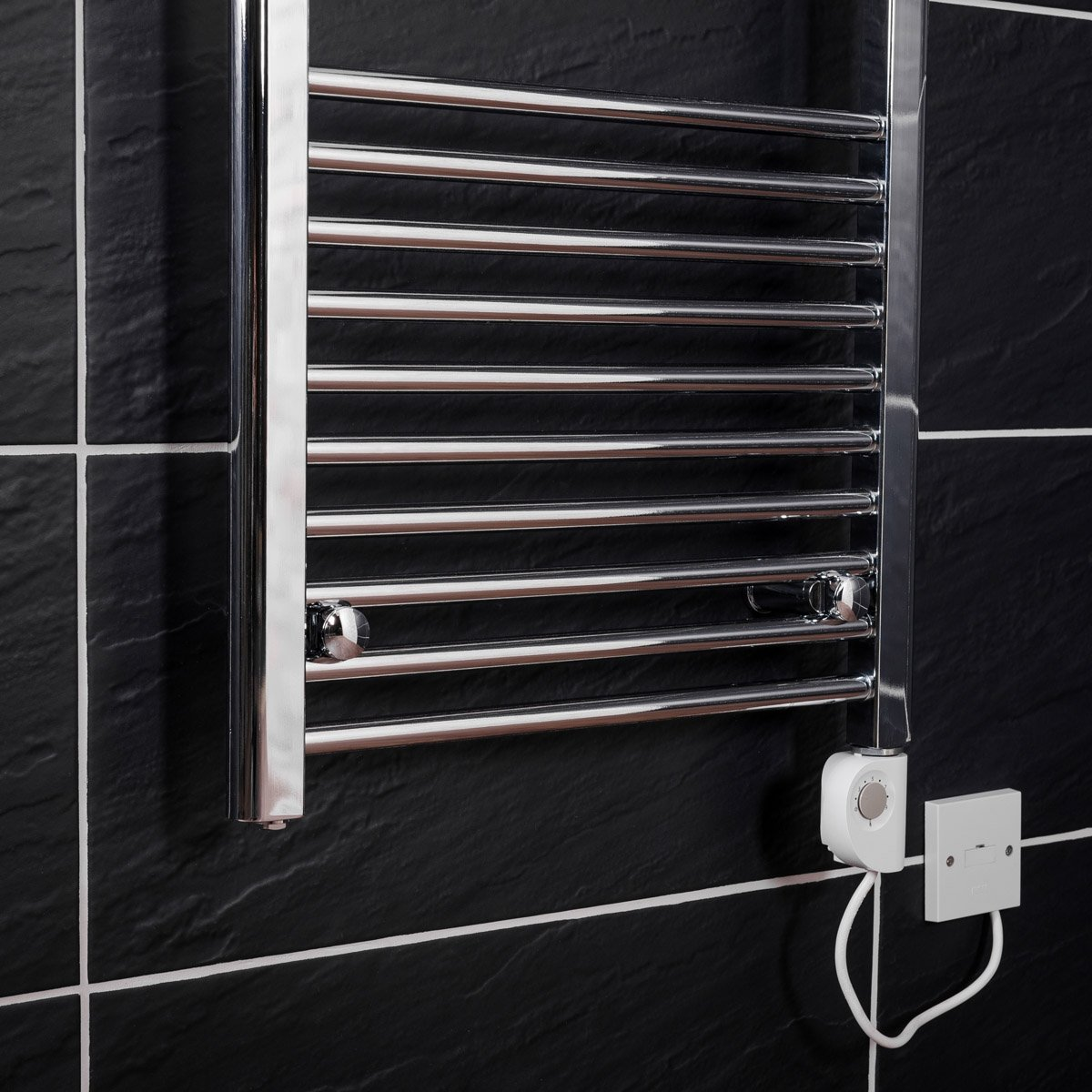 Bathroom Chrome Electric Ladder Heated Towel Rail Warmer ...