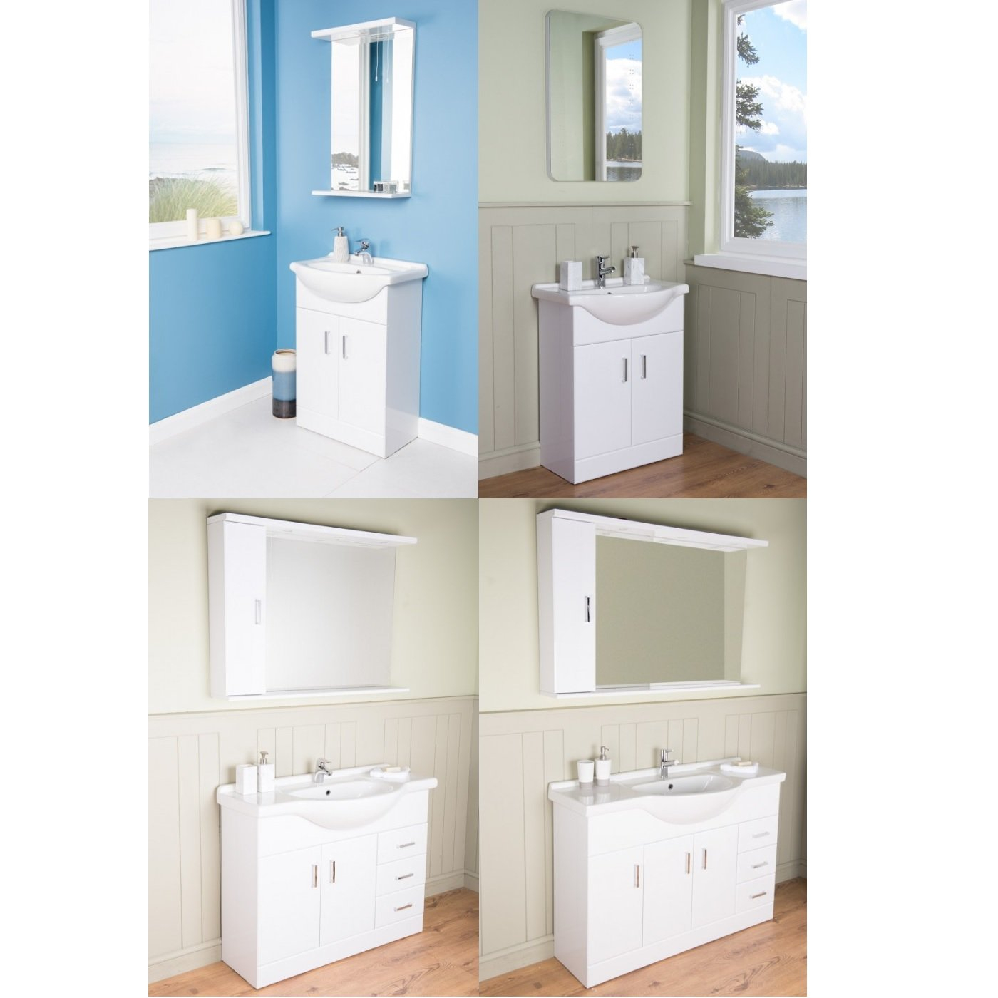 about new modern gloss white bathroom vanity unit cabinet basin sink