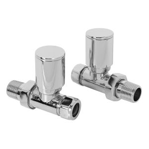 15mm Designer Straight  Radiator Valves - Pair