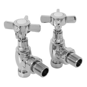 15mm Traditional Angled Radiator Valves - Pair