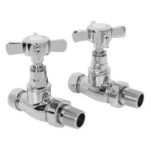 15mm Traditional Straight Radiator Valves - Pair
