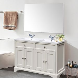 Bathroom Toilet WC Rectangular Wooden Frame Wall-Mounted Mirror 800 x 1200mm