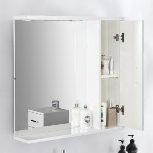 Bathroom Wall Hung Mirror Cabinet Storage Furniture Unit 750 x 750mm