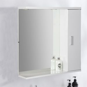 Modern Bathroom Wall Hung Mirror Cabinet Storage Furniture Unit 850 x 750mm