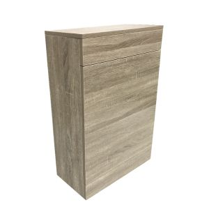 Modern Back To Wall Toilet Cistern Unit Bathroom Furniture 500mm Grey Oak