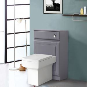 Back to Wall Toilet Concealed Cistern Housing Without Toilet & Cistern 502 mm Gloss Grey