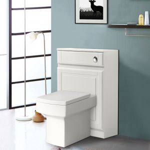 Back to Wall Toilet Concealed Cistern Housing Without Toilet & Cistern 502 mm Ivory White