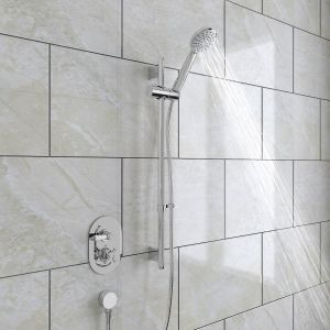 Abbey Thermostatic Concealed Shower Valve & Slide Rail Kit