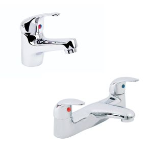 Tranquil Basin Mixer and Bath Filler Tap Pack