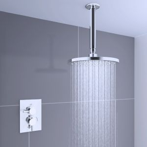 Hudson Thermostatic Concealed Shower Valve with Round Ceiling Head