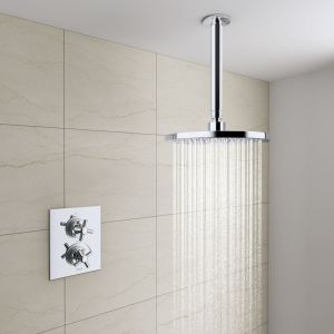 Hartwell Thermostatic Concealed Shower Valve with Round Ceiling Head