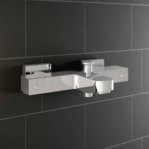 Square Thermostatic Cool Touch Shower & Bath Filler Valve