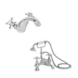 Ashwick Mono Basin & Shower Bath Tap Pack