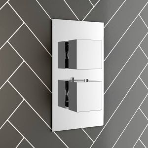Two Valve 1 Way Concealed Valve Inc Plate - Square