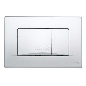 Schwab by Fluidmaster Dots Duo Matt Chrome Flush Button Plate