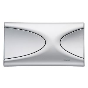 Schwab by Fluidmaster Targa Matt Chrome Flush Button Plate