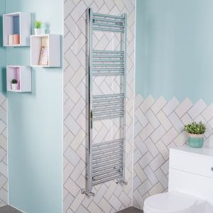 Bergen Towel Radiator 800 x 500 - Chrome