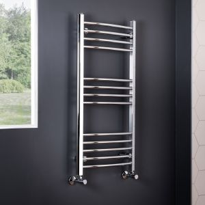 Essentials Curved Towel Radiator 1150 x 600- Chrome