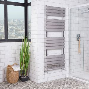 Juva Towel Radiator 1600 x 600 - Chrome