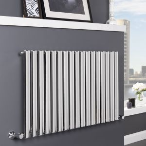 Norden 600 x 1020mm Chrome Single Oval Tube Horizontal Radiator