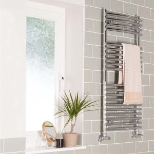 Jakobstad Towel Radiator 800 x 500 - Chrome