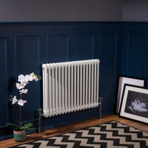 Bern 600 x 830mm White Double Horizontal Column Radiator