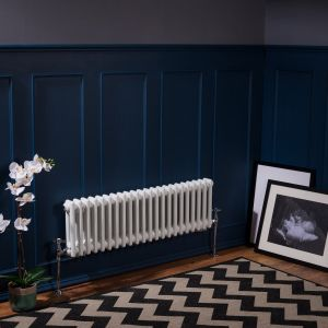 Bern 300 x 1010mm White Double Horizontal Column Radiator