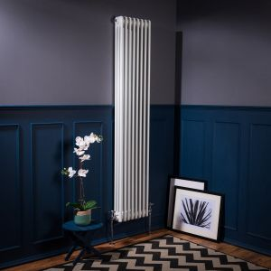 Bern 1800 x 380mm White Triple Vertical Column Radiator