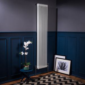 Bern Towel Radiator 1800 x 380 - White - Single