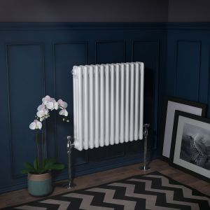 Bern 600 x 605mm White Triple Horizontal Column Radiator