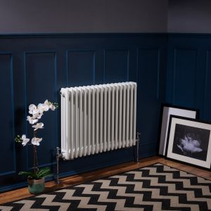 Bern 600 x 830mm White Triple Horizontal Column Radiator