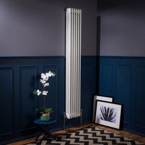 Bern 1800 x 290mm White Triple Vertical Column Radiator