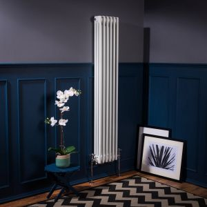 Bern Towel Radiator 1500 x 290 - White - Double
