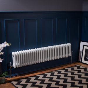 Bern 300 x 1460mm White Triple Horizontal Column Radiator
