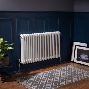 Bern 600 x 1010mm White Triple Horizontal Column Radiator