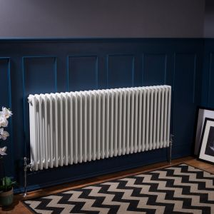 Bern 600 x 1460mm White Triple Horizontal Column Radiator