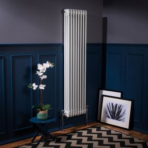 Bern Towel Radiator 1500 x 380 - White - Double