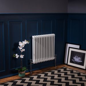 Bern 600 x 605mm White Double Horizontal Column Radiator