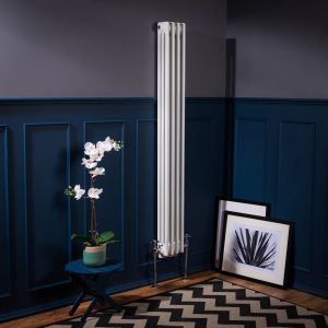 Bern 1500 x 200mm White Triple Vertical Column Radiator
