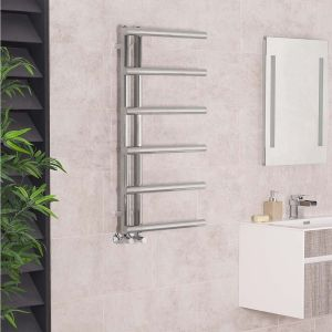 Kristiansund 988 x 500mm Chrome Designer Heated Towel Rail