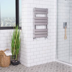 Juva 800 x 450mm Chrome Flat Panel Heated Towel Rail