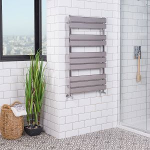 Juva 1000 x 600mm Chrome Flat Panel Heated Towel Rail