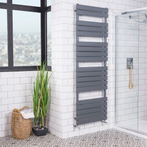 Juva 1800 x 600mm Sand Grey Flat Panel Heated Towel Rail