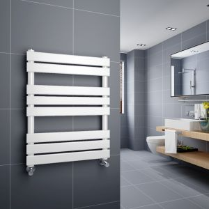 Juva 800 x 600mm White Flat Panel Heated Towel Rail