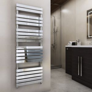 Juva 1800 x 600mm Chrome Flat Panel Heated Towel Rail